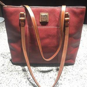 Dooney & Bourke Pebble Leather Shoulder Handbag